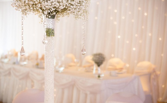 Example of decorations that are possible at Tillington Hall Hotel.
