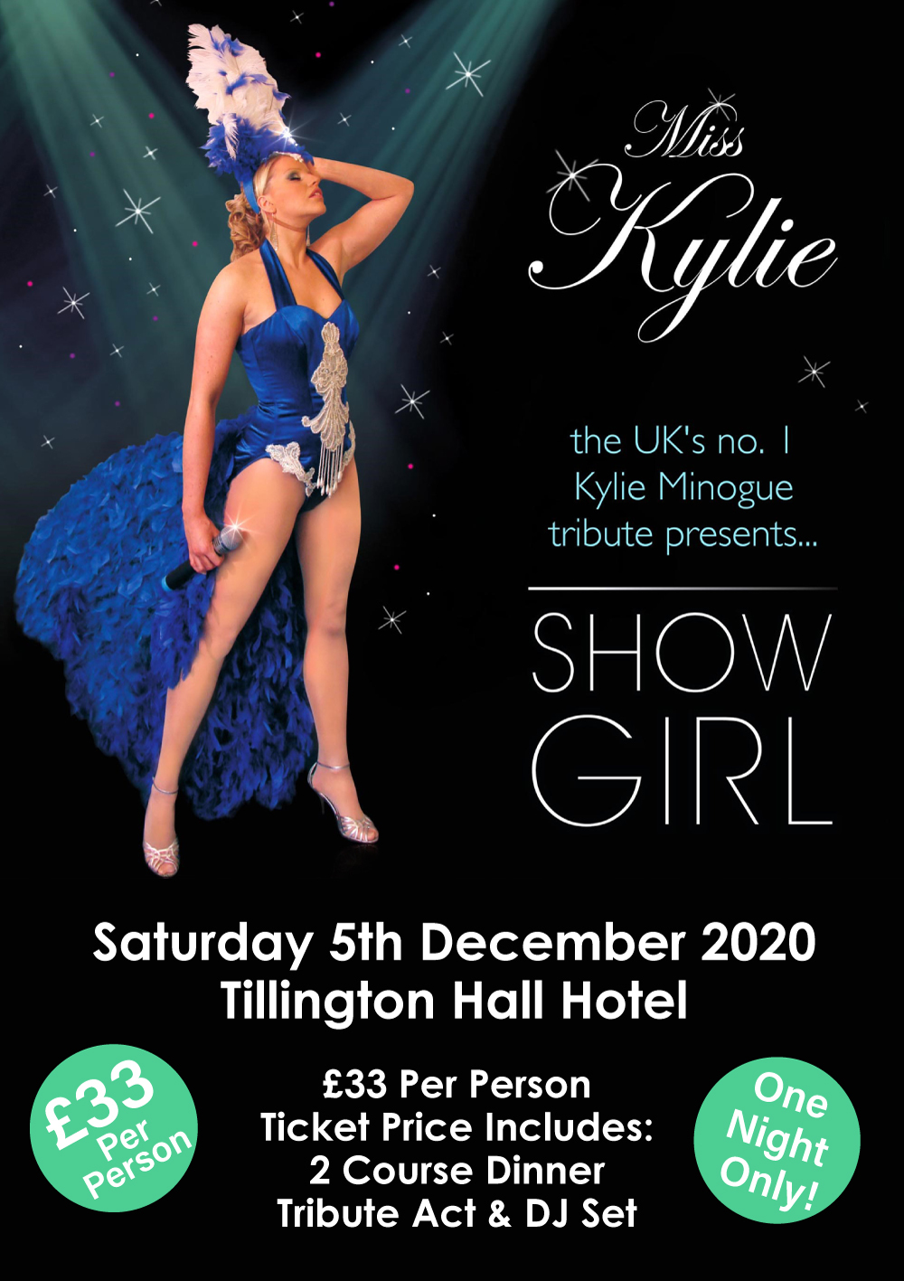 Miss Kylie (Kylie Minogue Tribute Act) poster.